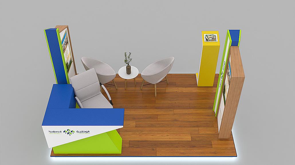 AREEJ KIOSK 3D Visualization - Creative Fox